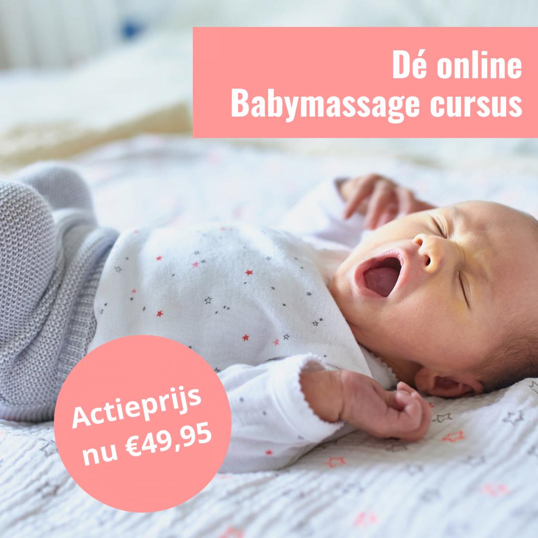Babymassage Online cursus actie prijs